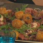 James Martin risotto balls with beef carpaccio recipe on Saturday Kitchen