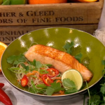 Dean Edwards Citrus salmon with carrot and noodle salad recipe on Lorraine