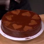 John Whaite chocolate and hazelnut gluten free cake on Lorraine