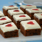 Mary Berry chocolate and beetroot tray bake recipe on The Great Sport Relief Bake Off