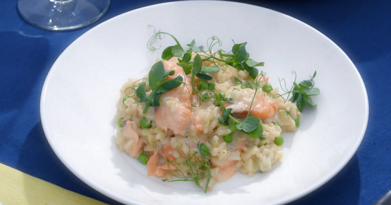 Mary Berry Salmon With Fennel And Pea Risotto Recipe On