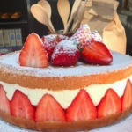 John Whaite Strawberry and orange curd fraisier recipe on Lorraine