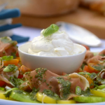 Mary Berry tomato salad with whipped goat's cheese recipe on Mary Berry's Foolproof Cooking