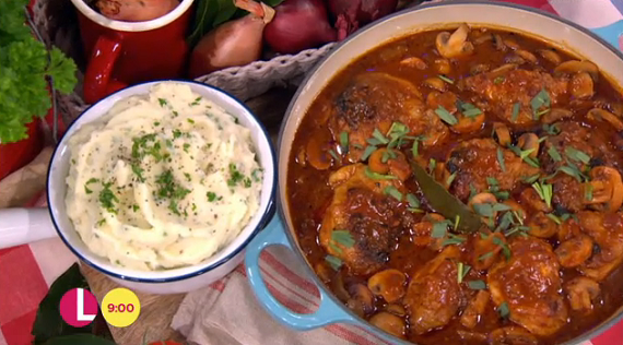 James Tanner served up a tasty speedy chicken chasseur with parsley ...
