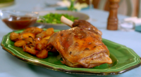 """Mary Berry served up a tasty slow roast lamb shoulder with sliced potatoes for Easter on Mary Berry's Easter Feast. Mary says: """"The ideal recipe for Easter Sunday – just..."""