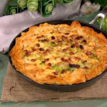 Dean Edwards cheesy leek tart recipe on Lorraine