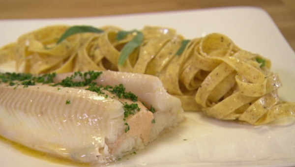 Rosemary Shrager Sole Amhuinnsuidhe With Tagliatelle Pasta