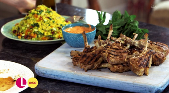 Kimberly Wyatt S Lamb Cutlets With Couscous Recipe On