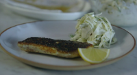 Tom Kerridge served up a tasty looking pan-fried sea bass with a spicy dry rub mix commonly used in the restaurant trade, served with a fennel coleslaw on today's episode...