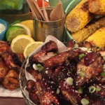 Dean Edwards Sticky chicken wings with blue cheese recipe on Lorraine