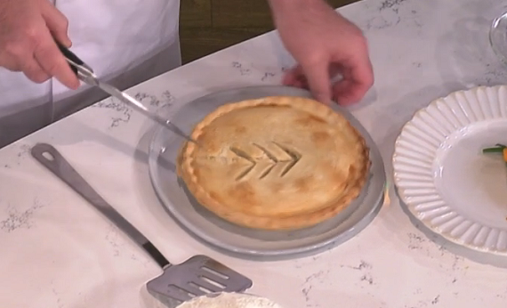Dave Smart served up a tasty potato meat pie for a clean eating dish ...