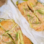 Kimberly's summertime salmon and sweet potatoes recipe on Lorraine
