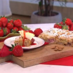 Phil's Strawberry and almond cake traybake recipe for a summer strawberry treat on This Morning