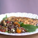Ainsley Harriott taste of the Mediterranean oregano chargrilled chicken with feta and sundried tomato salad recipe on This Morning