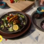 Sally Bee's warm chicken tikka salad recipe on Lorraine