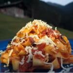 Gino's pasta with tomato sauce and Italian herb cheese recipe on Gino's Italian Escape: Hidden Italy
