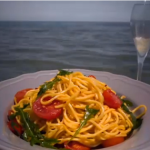 Gino D'Acampo pasta with cherry tomatoes, garlic, chilli and rocket  recipe on Gino's Italian Escape: Hidden Italy