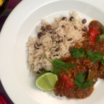 Dean Edwards Caribbean sweet potato and pepper curry recipe on Lorraine