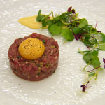 Monica's lamb tartare with confit egg recipe on MasterChef: The Professionals