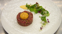 Monica Galetta served up a tasty lamb tartare with confit egg dish in just fifteen minutes on MasterChef: The Professionals. Monica choose the dish to test the butchery, fine dice,...