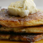 Simon Rimmer Golden Sultana and Cottage Cheese Pancakes recipe on Sunday Brunch