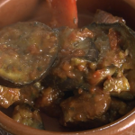 Rick Stein lamb with aubergine and red peppers stew recipe on Rick Stein's Long Weekends