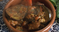 Rick Stein served up a tasty Greek lamb with aubergine and red peppers stew on Rick Stein's Long Weekends. The ingredients are: 2kg aubergines, cut into 5mm thick slices, 150ml...