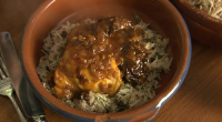 Rick Stein served up a tasty Kozani chicken with prunes, saffron and paprika dish on Rick Stein's Long Weekends. The ingredients are: 8 chicken thighs, skin removed, pinch of Kozani...