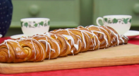 Paul Hollywood showcased his Kanellangd Scandinavia Christmas cinnamon bread for the technical challenge on The Great British Bake Off Christmas Special. The ingredients for the dough are: 75g unsalted butter,...