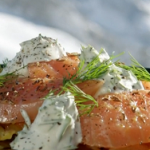 Phil's salmon rosti with caraway and vodka recipe on This Morning