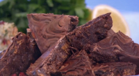 Phil Vickery served up delicious gluten-free chocolate tiffins for the festive period on This Morning. The ingredients are: 225g melted salted butter, 50g raisins, 50g fat sultanas, 3-4 tbsp cocoa...