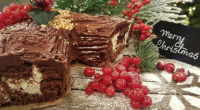 Andrew Smyth from The Great British bake Off, served up a delicious classic Christmas yule log on today's episode of Lorraine. The ingredients for the sponge are: A little unsalted...