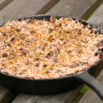 Smoked apple and spiced rum crumble on the Bikers Comfort Food