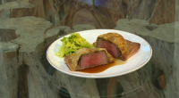 Donal Skehan served up a tasty beef Wellington with mushrooms and brandy on Saturday Kitchen for Olympic diver Tom Daley's food heaven. The ingredients for the filling: 10g dried porcini,...