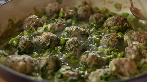 Rick Stein's Cuttlefish With Meatballs And Peas Recipe — Dishmaps