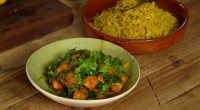"Simon and Dave put their spin on a classic pilau rice dish the Hairy Bikers Comfort Foods. The duo says: ""This is a perfect accompaniment to our crunchy palak paneer..."