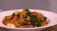 Gino served up a tasty ribollita vegetable soup for a Mediterranean diet on This Morning. The ingredients are: 180g stale country-style bread, 6 tbsp olive oil, 1 medium onion, peeled...