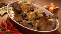 Rick Stein served up Vietnamese duck braised in orange juice with star anise on Saturday kitchen. The ingredients are: 2.5kg Duck (jointed into 6 pieces), 50g garlic (crushed), 50g ginger...