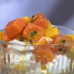 Anna's mango, papaya and passion fruit Eton mess on Royal Recipes
