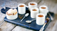 James Martin served up chocolate mousse with homemade honey flavoured madeleines dessert on James Martin's French Adventure. The ingredients for the mousse include: 70% coca, water, egges and sugar. For...
