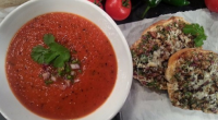Nisha Katona served up Indian cheese on toast with spicy tomato soup on today's episode of Lorraine. The ingredients are: 1-2 tbsp vegetable or rapeseed oil, 1 tsp nigella seeds,...