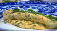 "Paul Ainsworth served up a omelette with fine herbs using dark brown eggs on Royal Recipes. Paul says: ""The secret to making a good omelette is too control the heat.""..."