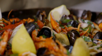 Martin Clunes and Jamie Oliver served up Mallorcan seafood and pork paella on Jamie and Jimmy's Friday Night Feast. The ingredients are: 6 large raw shell-on tiger prawns , from...