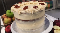 Jane Beedle served up a apple pecan fudge cake two ways (two-tier and three-tier) on today's episode of Lorraine. The ingredients for cake mixture (weight for three-tier cake in brackets):...