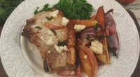 James Tanner served up sweet and salty pork chops on today's episode of Lorraine. The ingredients are: 4 thick cut butchers boneless pork chops, 2 large (approx 600g ) sweet...