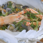 James Martin seafood En papillote on James Martin's French Adventure