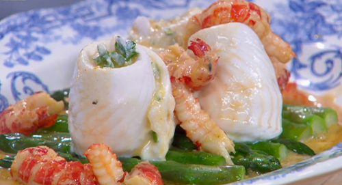 Paul Ainsworth paupiette lemon sole with watercress and nantua sauce recipe | TV Foods