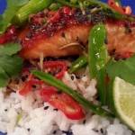James Tanner sticky salmon and coriander rice recipe on Lorraine