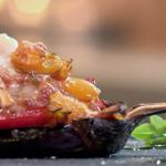Carolyn Robb stuffed aubergines on Royal Recipes
