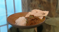 Angela Hartnett served up venison curry with rice and naan bread for food heaven on Saturday Kitchen. The ingredients are: 1kg wild venison, diced, 25g ginger-garlic paste, from a jar,...